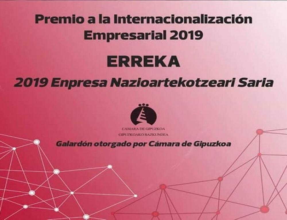 Erreka Gana Premio a la Industria Gipuzkuana