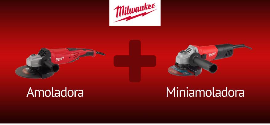 Lee más sobre el artículo Pack Milwaukee Amoladora + Miniamoladora