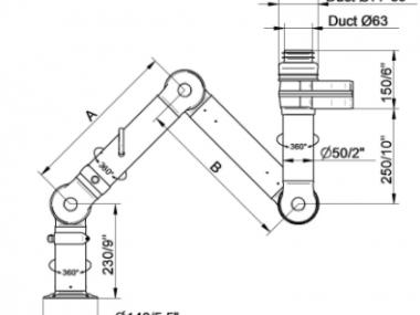 Brazo de Extracción Bench FX2 50 ESD/EX