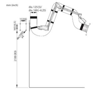 Brazo de extracción NEX S Ø125