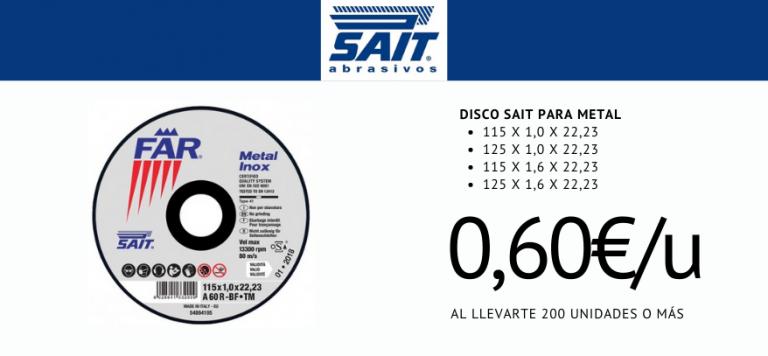 Lee más sobre el artículo Oferta de Discos Abrasivos Planos SAIT FAR-TM A46R